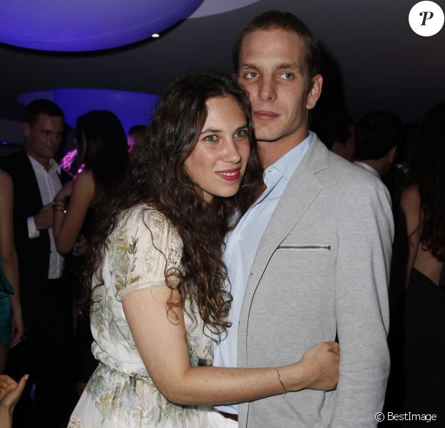 Andrea Casiraghi et Tatiana Santo Domingo à l'Eden Roc le 23 mai 2012