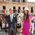 Andrea Casiraghi et Tatiana Santo Domingo lors du mariage du prince Abert II et Charlene Wittstock à Monaco le 2 juillet 2011
