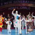 Cérémonie de remise des Juniors lors du 3e Festival international de cirque New Generation, le 2 février 2014 à Monaco.