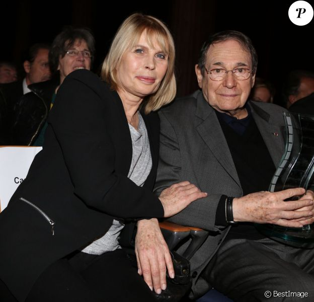 """Candice Patou et Robert Hossein - Clôture des """"Rencontres Internationales du Cinéma"""" et remise des Prix Henri-Langlois à Vincennes le 3 février 2014."""