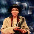 """Anna Karina - Clôture des """"Rencontres Internationales du Cinéma"""" et remise des Prix Henri-Langlois à Vincennes le 3 février 2014."""