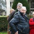 Roger Knobelspiess lors des obsèques de François Cavanna au Père Lachaise à Paris. Le 6 février 2014.