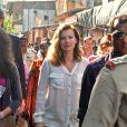 Valérie Trierweiler en Inde, janvier 2014.