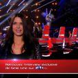 Ginie Line dans The Voice 3, la samedi 8 février 2014 sur TF1