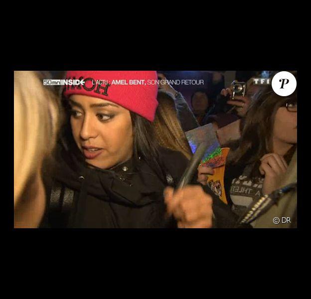 """La chanteuse Amel Bent, dans les coulisses de sa nouvelle tournée. Un reportage diffusé dans """"50 min Inside"""", samedi 8 février 2014."""