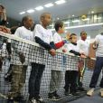 Nicolas Deuil lors du lancement de l'opération Sourire gagnant de l'association Enfant Star & Match à Levallois-Perret le 10 février 2014