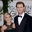 Chris Hemsworth et sa femme Elsa Pataky lors de la 71e cérémonie des Golden Globe Awards à Beverly Hills le 12 janvier 2014.