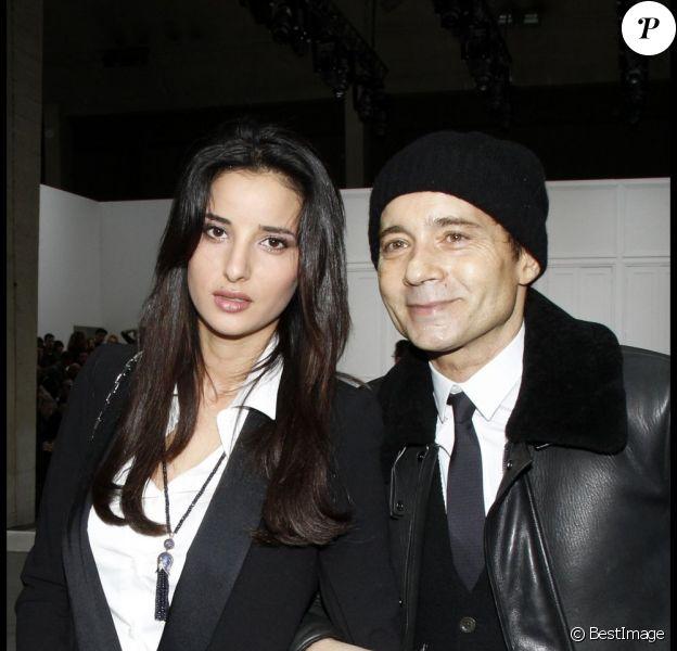Jean-Luc Delarue et Anissa à Paris, le 21 janvier 2012.