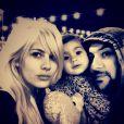 Shayne Lamas, son mari Nik Richie et leur fille Press, le 7 décembre 2013.