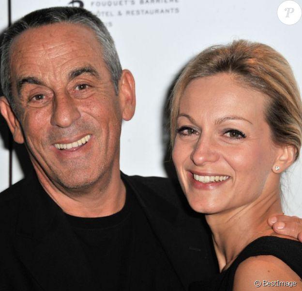 Thierry Ardisson et Audrey Crespo-Mara amoureux en janvier 2013 à Paris