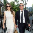 Elizabeth Hurley et Shane Warne à Londres, le 19 juillet 2013.