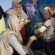 Angelina Jolie à la rencontre d'enfants réfugiés syriens, au Liban, le 24 février 2013.
