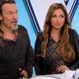 Teiva et Jérémy lors de leur battle dans The Voice 3, le samedi 29 février 2014 sur TF1
