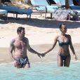 Exclusif - Sonia Rolland et son amoureux Jalil Lespert en vacances au Royal Palm à l'île Maurice, le 13 février 2014