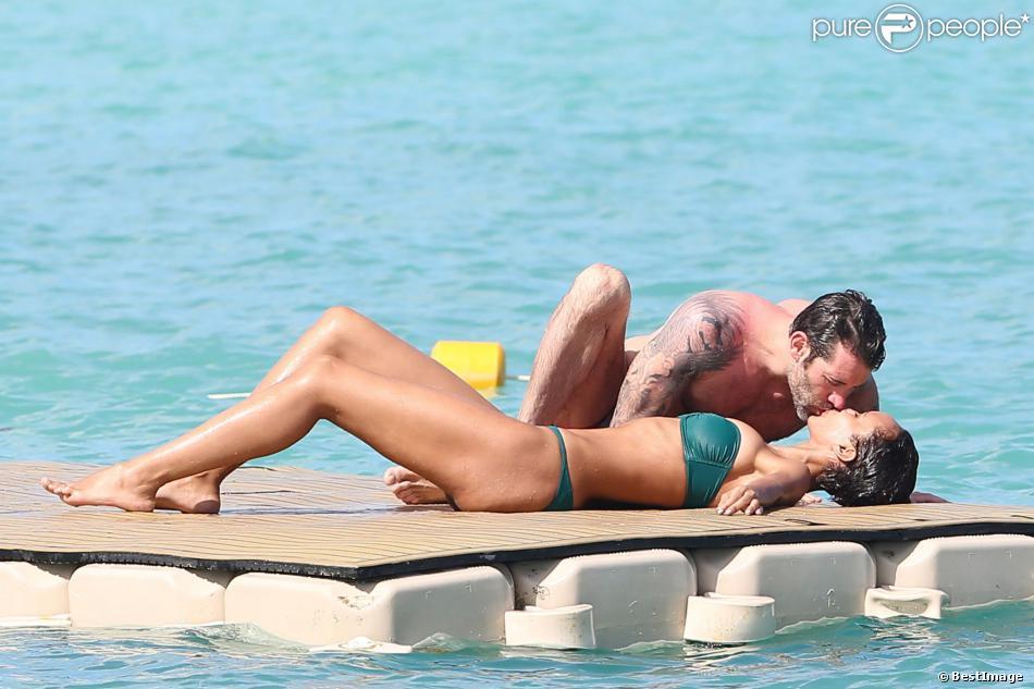 Exclusif - Sonia Rolland et son amoureux Jalil Lespert en vacances de rêve au Royal Palm à l'Ile Maurice, le 13 février 2014