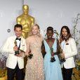 Matthew McConaughey, Cate Blanchett, Lupita Nyong'o et Jared Leto lors de la cérémonie des Oscars le 2 mars 2014