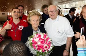 Bernadette Chirac : Croisière en or avec de jeunes pompiers et le Stade français