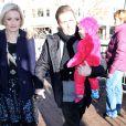 Holly Madison avec son époux et leur fille au festival de Sundace, le 18 janiver 2014.