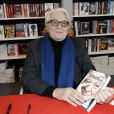 Roland Dumas à la 34e édition du Salon du Livre à Paris, Porte de Versailles, le 22 mars 2014.