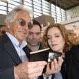 Jean-Paul Enthoven, Yann Moix et Nathalie Kosciusko-Morizet à la 34e édition du Salon du Livre à Paris, Porte de Versailles, le 22 mars 2014.