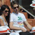Romain Grosjean et Marion Jollès à Roland-Garros le 28 mai 2012 à Paris