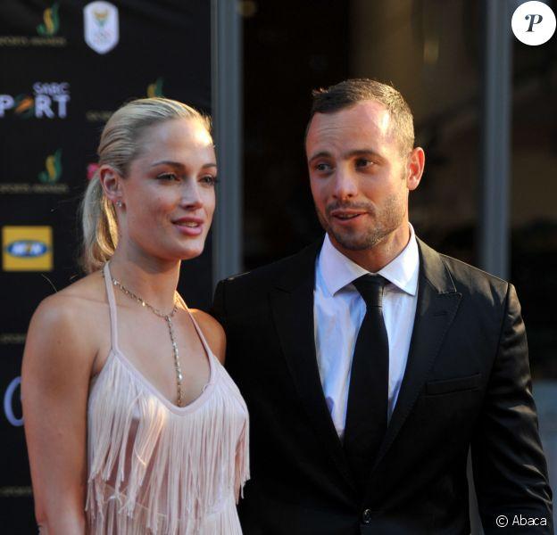 Oscar Pistorius et Reeva Steenkamp lors des Feather Awards le 4 novembre 2012 à Johannesburg