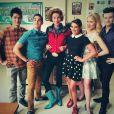 Darren Criss a posté cette photo de groupe avec Gwyneth Paltrow sur Twitter, le 19 mars 2014.