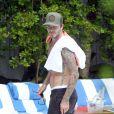 David Beckham se relaxe à Miami, le 27 mars 2014.