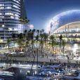 David Beckham a présenté lundi le projet d'un stade ultra-moderne et design de 35 000 places où pourrait jouer sa franchise de MLS, à Miami, le 25 mars 2014.