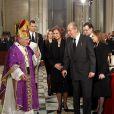Obsèques d'Etat, présidées par la famille royale d'Espagne, de l'ancien chef du gouvernement espagnol Adolfo Suarez en la cathédrale de La Almudena à Madrid, le 31 mars 2014.