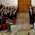 Obsèques d'Etat de l'ancien chef du gouvernement espagnol Adolfo Suarez, décédé le 23 mars à 81 ans, en la cathédrale de La Almudena à Madrid, le 31 mars 2014.
