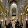 Image des obsèques d'Etat de l'ancien chef du gouvernement espagnol Adolfo Suarez en la cathédrale de La Almudena à Madrid, le 31 mars 2014.