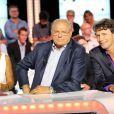 """Exclusif - Gérard Louvin, Isabelle Morini-Bosc et Christophe Carriere à la conférence de presse de rentrée de D8 et D17 """"Touche Pas à Ma Rentrée"""", le 29 août 2013."""