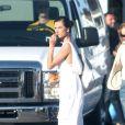 Alessandra Ambrosio sur un shooting secret à Malibu le 31 mars 2014