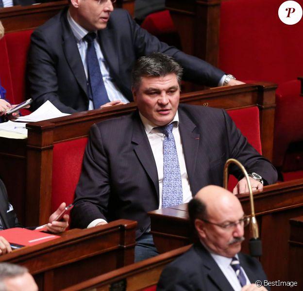 David Douillet à l'Assemblée nationale, à Paris le 30 janiver 2013.