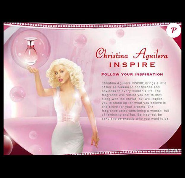 Christina Aguilera, pub pour 'Inspire'