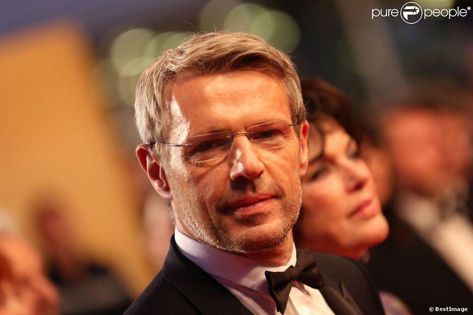 Lambert Wilson lors du Festival de Cannes et la présentation du film Vous n'avez encore rien vu d'Alain Resnais le 21 mai 2012