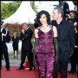 Monica Bellucci et Lambert Wilson lors du Festival de Cannes et la présentation du film Matrix Reloaded en 2003