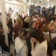 """Cocktail dinatoire pour le lancement de la capsule Sarah Lavoine et Juliette Swildens, associées toutes les deux pour créer une collection capsule """"Around the clock!"""", à la boutique Swildens au 18, rue du Vieux Colombier, à Paris."""