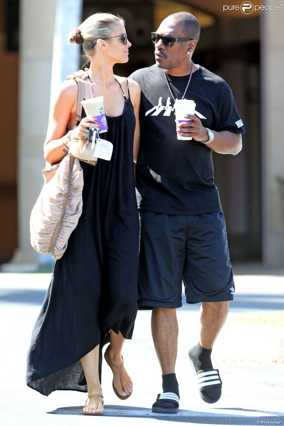 Exclusif - Paige Butcher et Eddie Murphy, détendus en vacances à Maui. Hawaï, le 5 avril 2014.