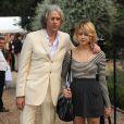 Sir Bob Geldof et sa fille Peaches Geldof en 2009 à la garden party de David Frost, à Londres.