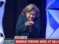 Hillary Clinton attaquée : Victime d'un impressionnant lancer de chaussure