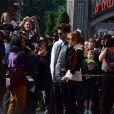 Emma Stone et Andrew Garfield se rendent aux Walt Disney Studios à Disneyland Paris, Marne-la-Vallée, pour la promotion de The Amazing Spider-Man 2, le 11 avril 2014.