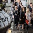 La princesse Mary de Danemark au Musée des navires vikings de Roskilde le 10 avril 2014 pour l'inauguration d'une nouvelle exposition temporaire, ''Le monde à l'Âge des Vikings''.