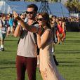 Ashley Greene, Paul Khoury lors du 1er jour du Festival de Coachella à Indio, le 11 avril 2014.