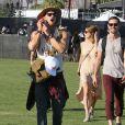 Kellan Lutz, Ashley Greene, Paul Khoury lors du 1er jour du Festival de Coachella à Indio, le 11 avril 2014.