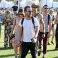 Kellan Lutz, Ashley Greene, Paul Khoury, Aaron Paul lors du 1er jour du Festival de Coachella à Indio, le 11 avril 2014.