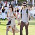 Ashley Greene amoureuse lors du 1er jour du Festival de Coachella à Indio, le 11 avril 2014.