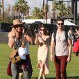 Kellan Lutz et Ashley Greene in love lors du 1er jour du Festival de Coachella à Indio, le 11 avril 2014.