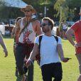 Aaron Paul avec Kellan Lutz lors du 1er jour du Festival de Coachella à Indio, le 11 avril 2014.